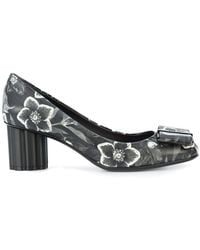 Ferragamo - Flower Heel Printed Pumps - Lyst