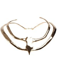 Undercover - Double Spiked Necklace - Lyst