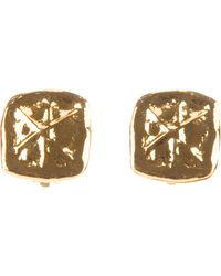 Christian Lacroix - Hammered Earrings - Lyst