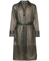 CALVIN KLEIN 205W39NYC - Long Trench Coat - Lyst