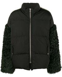 Sandy Liang | Eldridge Feather Sleeve Coat | Lyst