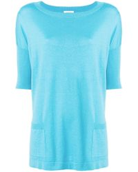 Snobby Sheep - Flared Short-sleeve Top - Lyst