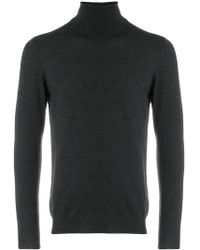 Zanone - Roll-neck Fitted Sweater - Lyst