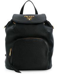 a37076ce111c Prada Classic Backpack in Black - Lyst