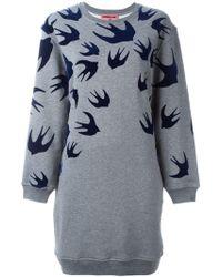 McQ - 'swallow' Sweatshirt Dress - Lyst