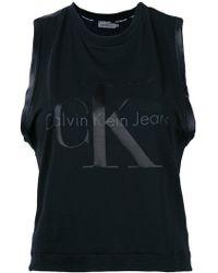 Ck Jeans - Logo Print Tank Top - Lyst