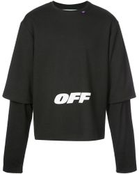 Off-White c/o Virgil Abloh - Sweat oversize à design superposé - Lyst
