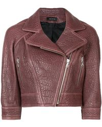 Yigal Azrouël - Cropped Biker Jacket - Lyst