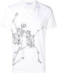 Alexander McQueen - Skelleton Print T-shirt - Lyst