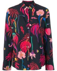 PS by Paul Smith - Tropical Print Shirt - Lyst