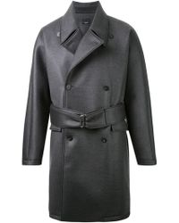 Thamanyah - - Waxed Effect Trench Coat - Men - Polyurethane/cupro/cashmere/wool - 46 - Lyst