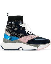 Karl Lagerfeld - Studded Colourblock Sneakers - Lyst