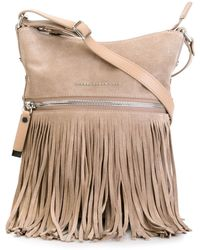 Diesel Black Gold - Front Zip Fringe Shoulder Bag - Lyst