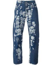 Jean Paul Gaultier - Jacquard Face Jeans - Lyst