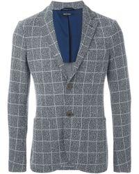 Giorgio Armani - Woven Checked Blazer - Lyst