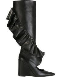 J.W.Anderson | Ruffle Detail Wedge Boots | Lyst