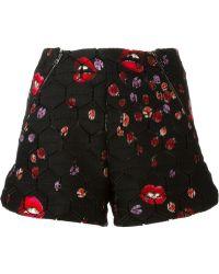 Giamba - Lady Bug And Lips Print Shorts - Lyst