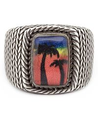 Saint Laurent - 'eighties Hawaii' Signet Ring - Lyst