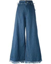 Tsumori Chisato - Flared Denim Trousers - Lyst