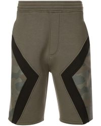 Neil Barrett - Paneled Camo Shorts - Lyst