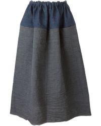 Daniela Gregis - Panelled Midi Skirt - Lyst