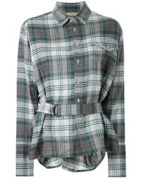 Fad Three - Belted Plaid Shirt - Lyst