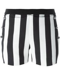 Mugler - Striped Button Shorts - Lyst