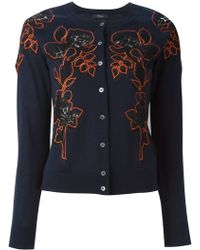 Paul Smith Black Label - Flower Embroidered Cardigan - Lyst
