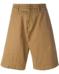 N°21 - No21 Wide Leg Chino Shorts - Lyst