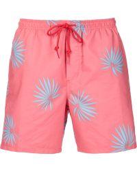 Obey - Printed Swim Shorts - Lyst