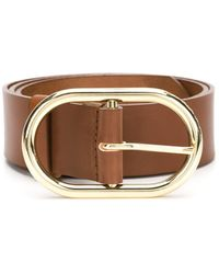 FRAME - 'le Oval' Buckle Belt - Lyst