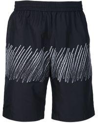 Alexander Wang - Scribble Print Swim Shorts - Lyst