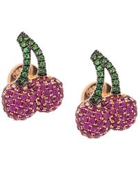 Khai Khai - Cherry Ruby Stud Earrings - Lyst