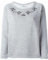 Blumarine   Embellished Sweatshirt   Lyst