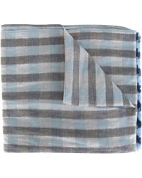Our Legacy - Frayed End Checked Pattern Scarf - Lyst