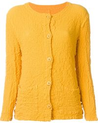 Issey Miyake Cauliflower - Yellow Textured-Cotton Button Down Jacket - Lyst