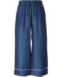 Erika Cavallini Semi Couture - Piped Trim Pyjama Trousers - Lyst