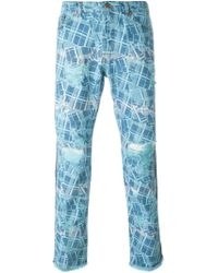 James Long - Printed Slim Jeans - Lyst