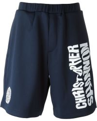 Christopher Shannon - Logo Print Shorts - Lyst
