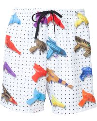 Jeremy Scott - Watergun Print Swim Shorts - Lyst