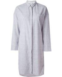 Valentine Gauthier - Striped 'bedouin' Oversized Shirt Dress - Lyst
