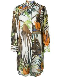 Valentine Gauthier - 'paradise Tree Bedouin' Oversized Shirt Dress - Lyst