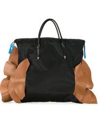 Toga - Contrast Ruffle Tote Bag - Lyst