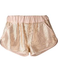 DROMe - Leather Shorts - Lyst