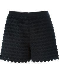 Giamba - Fringed Heart Shorts - Lyst