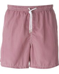 Kiton - Wavy Print Swim Shorts - Lyst