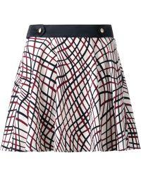 Loveless - Printed Mini Skirt - Lyst