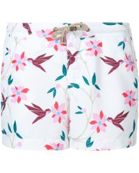 Thorsun - Cubist Tropical Board Shorts - Lyst