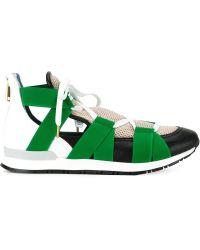 Vionnet - Elastic Banded Rear Zip Sneakers - Lyst