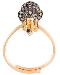 Christina Debs - Elephant Diamond Ring - Lyst